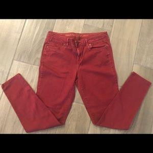 Simply Vera super soft red skinny jeans